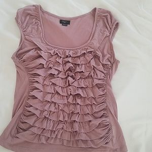 Anthropologie,  Deletta dusty rose top size small